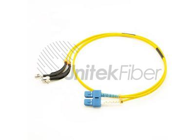 90 degree bent boot ST/UPC-SC/UPC Fiber Optic Patchcord Duplex SM Yellow
