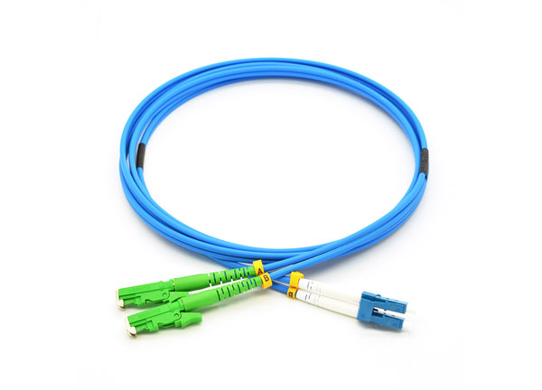 E2000/APC-LC/UPC Armored Fiber Optic Jumper Single mode G657A2 PVC 1M