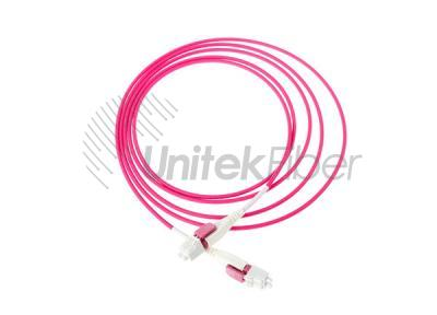 Uni-boot LC/UPC-LC/UPC Optical Jumpers Duplex OM4 Multimode Pink 2mm