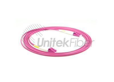 40G OM4 LC/UPC to LC/UPC Fiber Optic Jumpers 50/125um 2.0mm Pink color