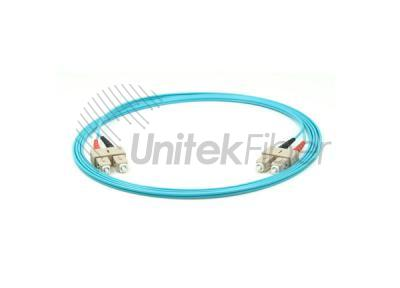OM3 Fiber Optic Jumper SC-SC Duplex 10G 50/125um 3.0mm