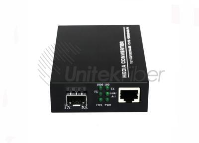 10/100/1000M Optic Fiber Media Converter With RJ45 SFP Port 1550nm 1310nm