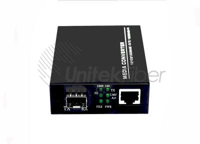 Optical Fiber Media Converter 101001000M 1×RJ45 1×SFP Port Sing Mode 1