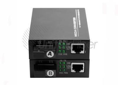 10/100M Adaptive Ethernet Optic Fiber Media Converter for Single Fiber 1550nm 1310nm 1×RJ45