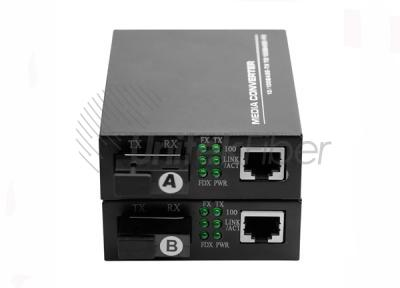 10/100M RJ45 Optical Fiber Media Converter With SC Port for Single Fiber 1310nm 1550nm