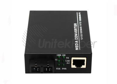 Single Mode Dual Fiber 10/100/1000M RJ45 Port Outdoors Industrial Optical Fiber Media Converter