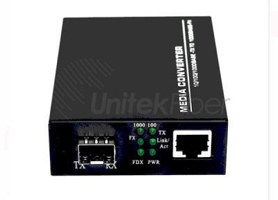 1 Pair SFP 10/100/1000M Optic Fiber Media Converter with RJ45 Port 1310nm 1550nm