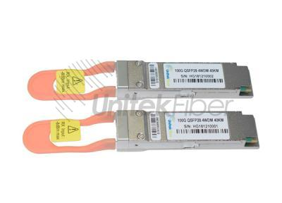 100G QSFP28 Optical Transceiver 1310nm 40km 4WDM Compatible With DELL