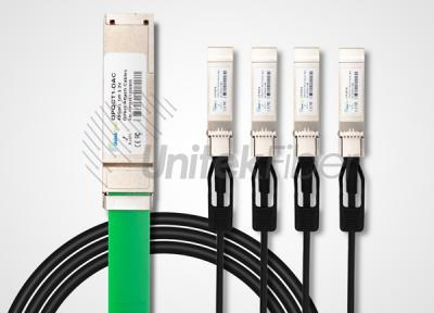 40G QSFP DAC Cable to 4 x 10G SFP+ Breakout AWG24 Direct Attach Copper Cable 3M