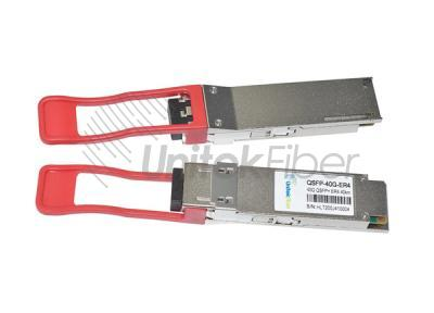 40G QSFP+ Optic Transceiver up to 40km With Duplex LC Connector 1320nm DOM SMF