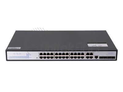Industrial Ethernet Switch 24-port 10M 100M 1000M 4-ports SFP and 8 Combo Ports Steel Alloy