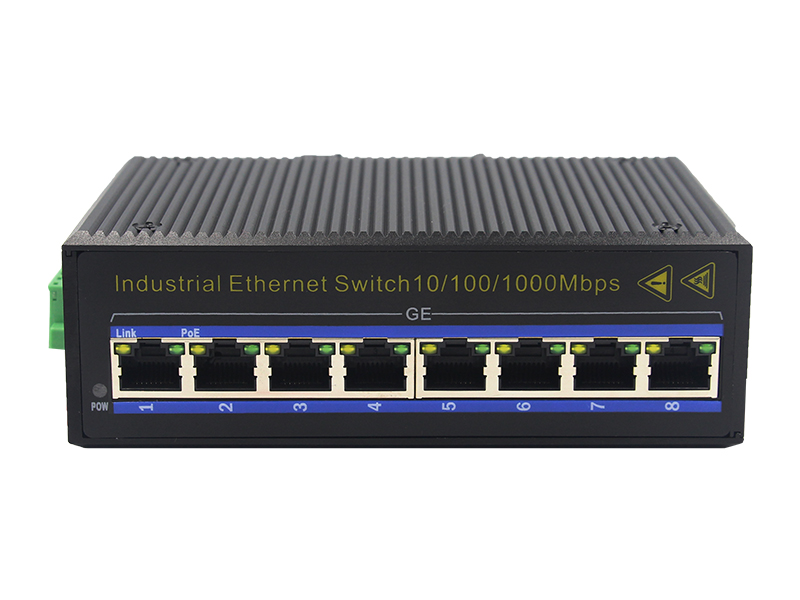 Manufactures 10M 100M 1000M Gigabit Electrical 8 Ports Industrial Ethernet Switch with Din-Rail Mount