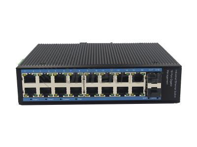 China High Performance Industrial Ethernet Switch with 16 RJ45 Electrical Ports