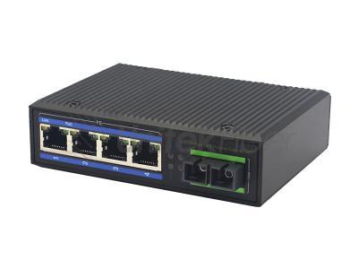 10/100Mbps Industrial Ethernet PoE Switch with 1 Optical Port 4 Electrical Ports Wholesale