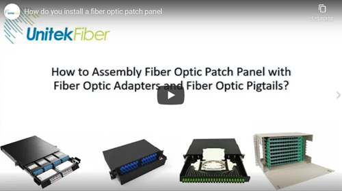 How do you install a fiber optic patch panel?