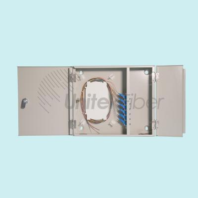 FTTH Network Optical Distribution Frame Wall Mounted Fiber Optic ODF SC 12 ports