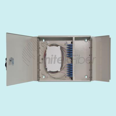 Wall Mounted Fiber Optic ODF Box Optical Distribution Frame SC 24 ports